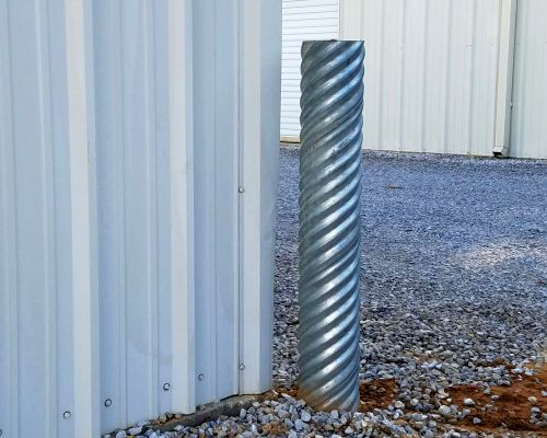 Corrugated Metal 6 in Diameter Bollard Post