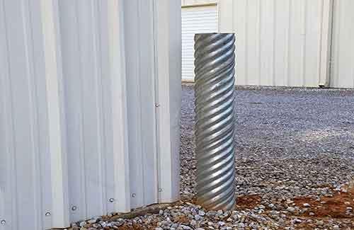 """Corrugated Metal 6"""" Diameter Bollard"""