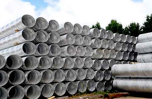 Road/Highway Drainage System - Corrugated Metal Pipe