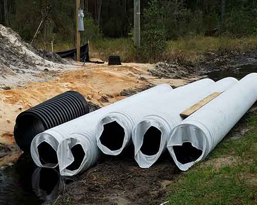 HDPE Corrugated Perforated Sock Pipe 100' with Riser