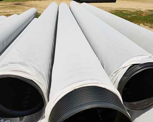HDPE Plastic Pipe - Perforated and Socked